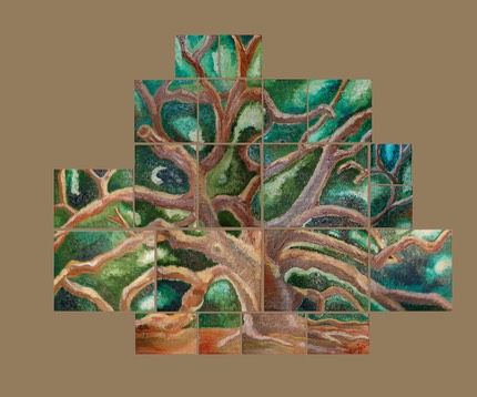 Tree of Life-Khaki Background